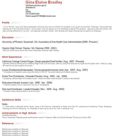 Profile Section Of Resume by Exle Resume Exle Resume Profile Section