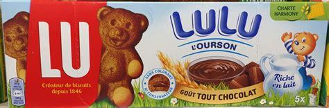 Lu L lulu l ourson go 251 t tout chocolat lu 150 g