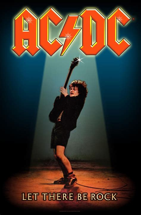 Acdc Let There Be Rock ac dc let there be rock textile flag buy at grindstore