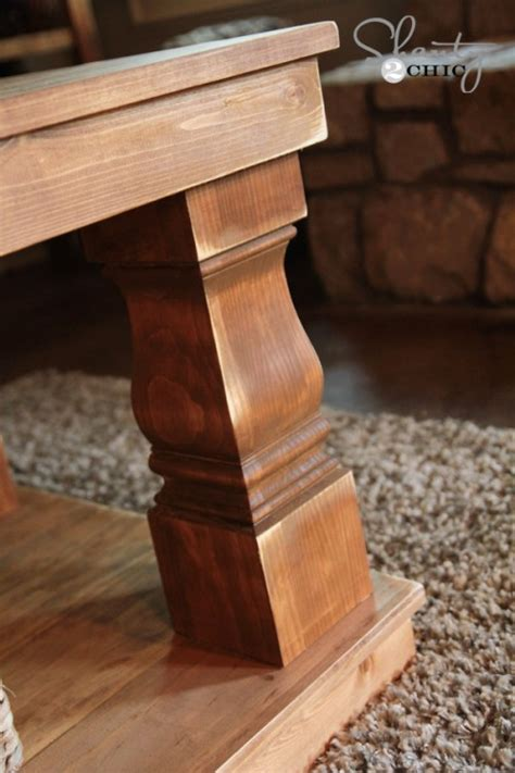 wood coffee table legs shanty2chic modern farm coffee table feautures osborne