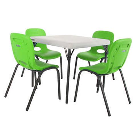 kids table and chairs costco lifetime kids table with 4 lime chairs
