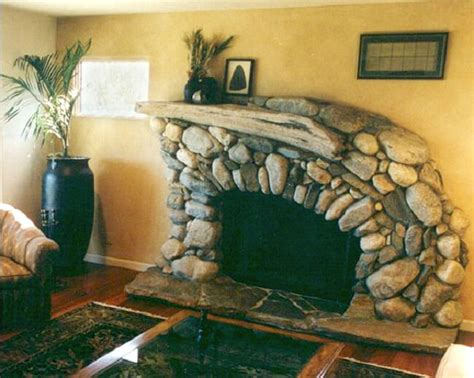 river rock fireplace surround river rock fireplace nifty homestead