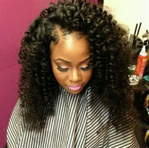 Hairstyles With Sew Ins by The Gallery For Gt Curly Hair Sew In