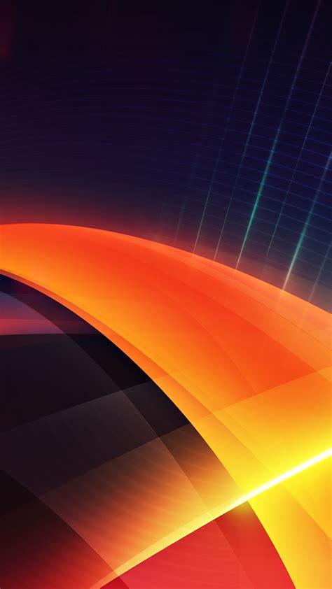futuristic orange layers illustration iphone   hd