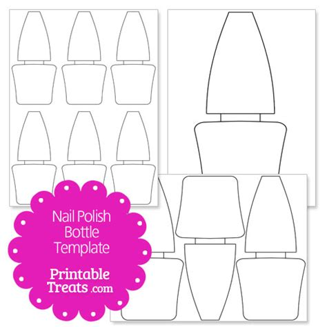 nail shape template printable nail bottle shape template printable