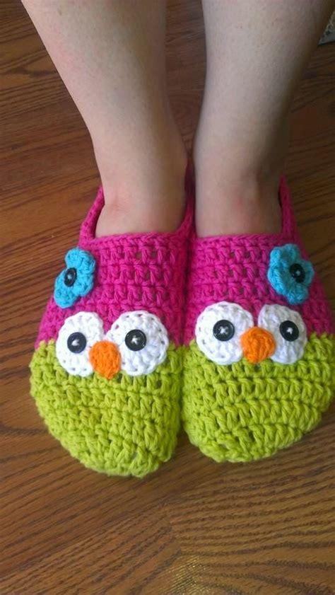 pattern for owl socks yelena s nest owl slippers free crochet pattern