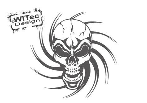Totenkopf Aufkleber F Rs Auto by Aa138 Totenkopf Skull Tribal Tattoo Auto Aufkleber