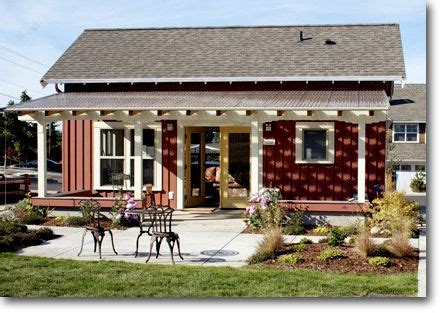 backyard guest house kits red sided small home with white trellis for covered back