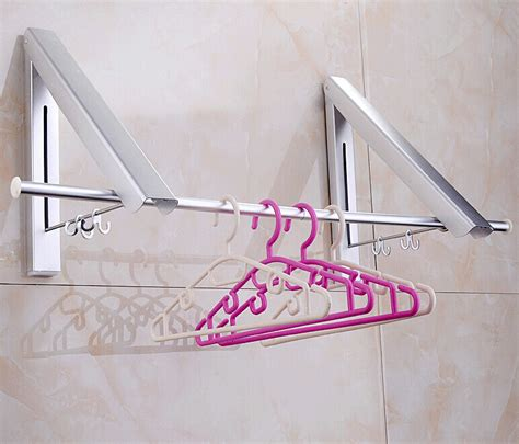 Wall Mounted Clothes Hanger Rack by New Wall Mounted Space Aluminum Clothes Drying