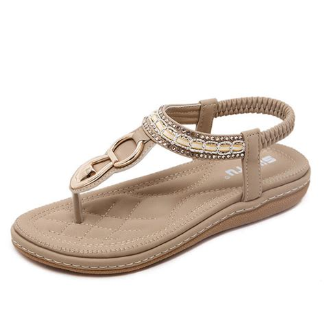 Wedges Emas Dan Silver 2 womens open toe flat pu casual sandals with silver