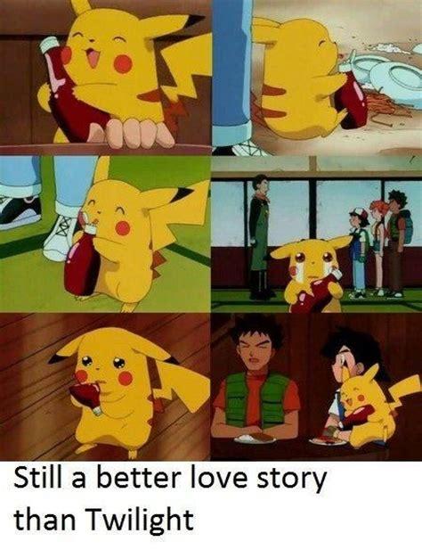 Still A Better Lovestory Than Twilight Meme - pikachu loves ketchup meme slapcaption com cute