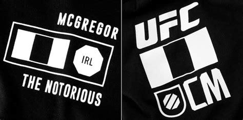 conor mcgregor ufc reebok fighter logo shirt