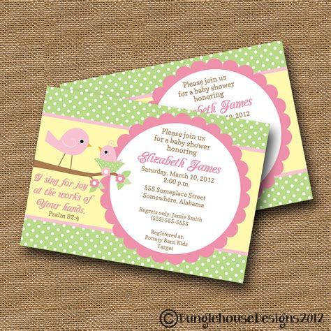 Christian Baby Shower Invitation Cards by Bird Baby Shower Invitation Diy Printable Baby