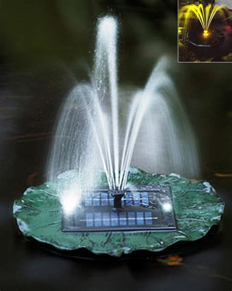 floating solar lights for fountains solar powered floating pond w led ebay
