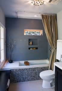 White tile blue gray updated bathroom pictures to pin on pinterest