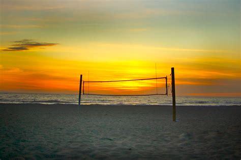 deserted beach volleyball net  sunset deserted beach vol flickr