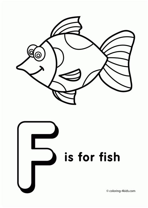 preschool coloring pages letter f things begin with f coloring pages