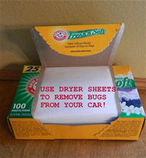 bed bugs and dryer sheets mom tip how to remove the bug collection from your car