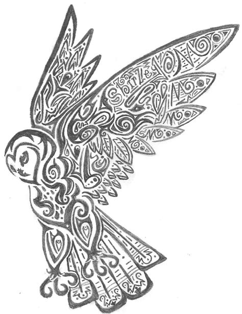 tribal owl tattoo pictures owl coloring pages free printables tribal owl by