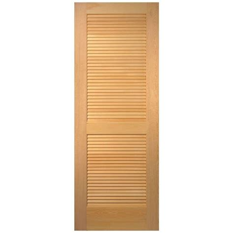 Unfinished Louvered Cabinet Doors Steves Sons 36 In X 80 In 15 Lite Glass Unfinished Pine Solid Interior Door Slab