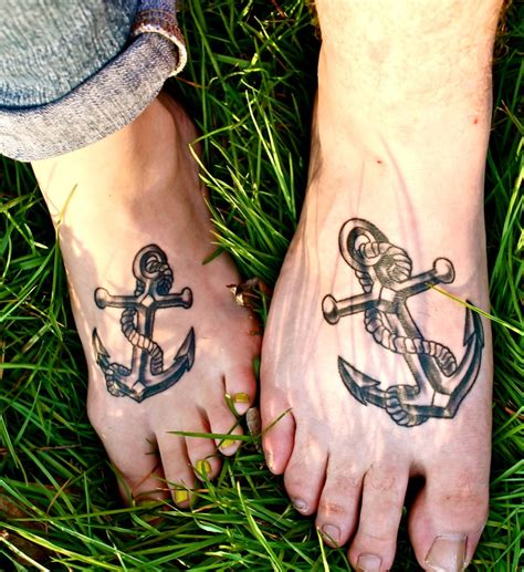 corresponding tattoos for couples 20 matching anchor tattoos for couples