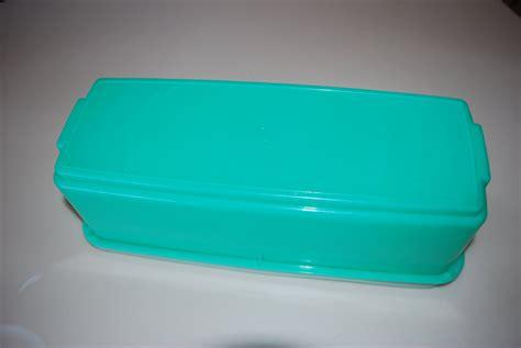 Tupperware Rectangular vintage seafoam green tupperware covered rectangular 3