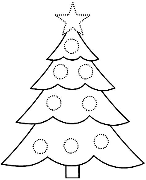 printable christmas tree coloring pages   trees