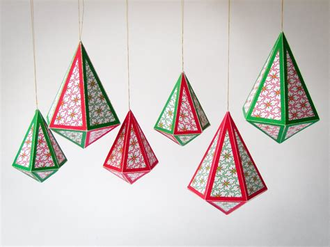 Diy Christmas Diy Holiday Ornaments 8 Printable Christmas 3d Ornament Templates