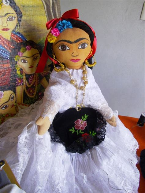 mexican rag doll history this handcrafted frida kahlo doll wears a traditional