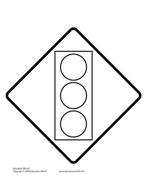 Free Coloring Pages Of Traffic Light Signals Traffic Light Template