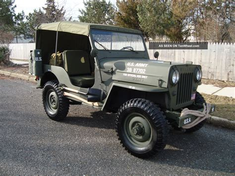 type jeep willys 1963 cj3b army m606 style vietnam military type