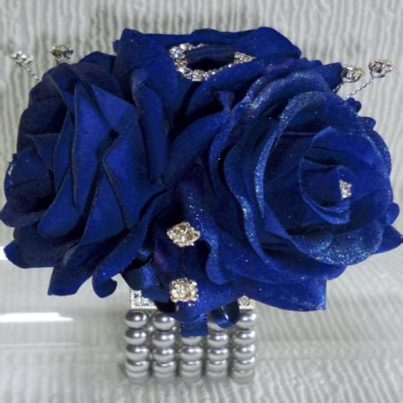 Corsage Blue Silver the floral touch uk wrist corsages prom corsage