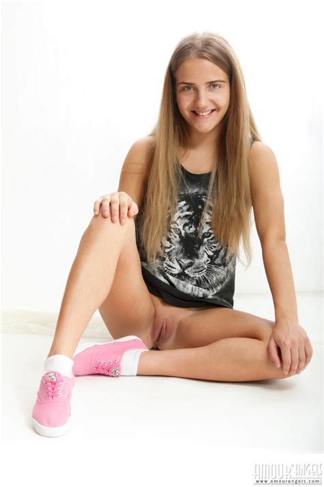 Untouched Pussy Of Teenager Teen Girl Open Her Nude Legs And Caress Her Untouched Pussy