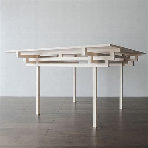 clean and crisp table design influenced by japanese