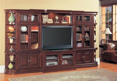 large entertainment center wall unit w bookcase wall fits