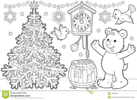 coloring pages for christmas time christmas coloring page stock illustration illustration