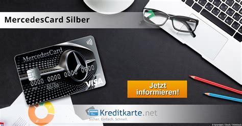 mercedes bank kreditkarte die mercedescard silber im test