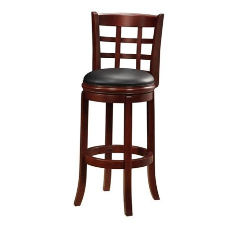 Cherry Bar Stools by Kyoto 29 Quot Swivel Bar Stool In Cherry 41229