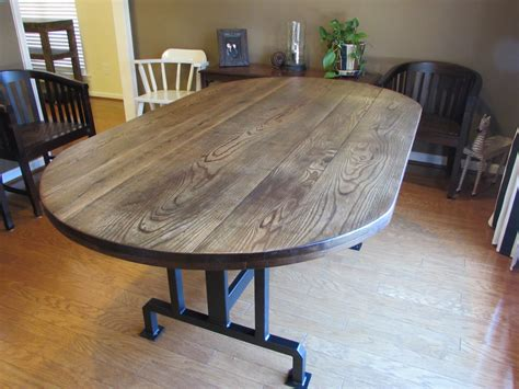 oblong kitchen tables custom handmade rustic oblong dining table just tables