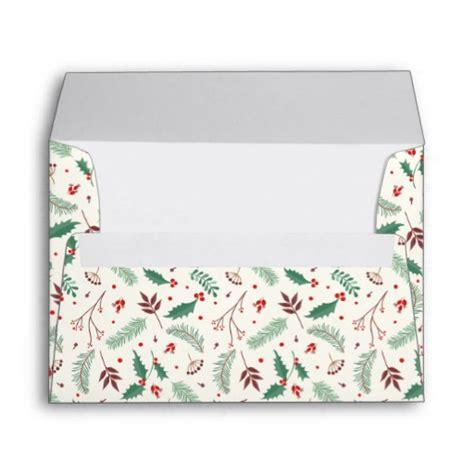pattern for cd envelope christmas mistletoe pattern envelope zazzle