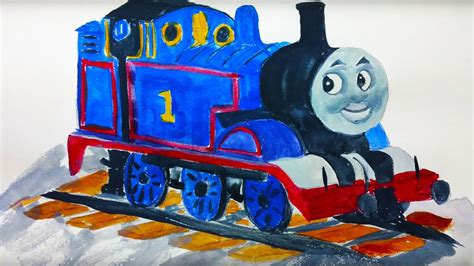 painting tank engine watercolour paint demonstration painting the tank