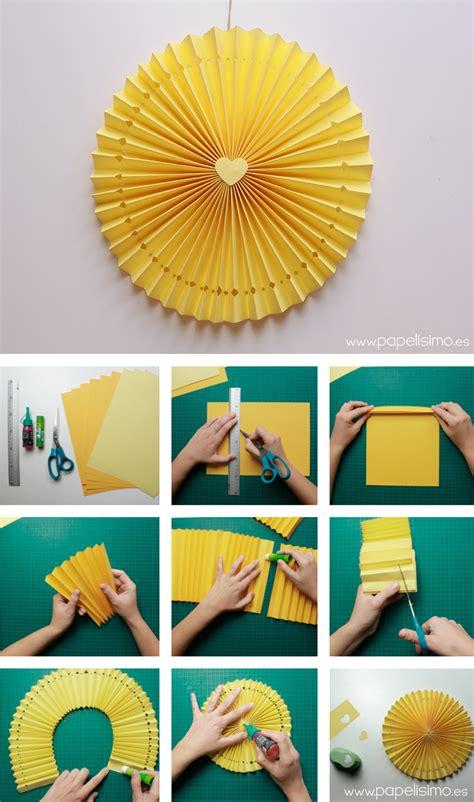 como hacer decoraciones con papel c 243 mo hacer rosetas o medallones de papel para fiestas
