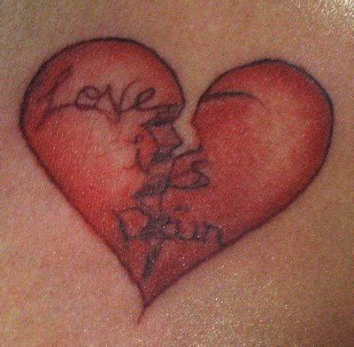 tattoo broken love love is pain tattoo