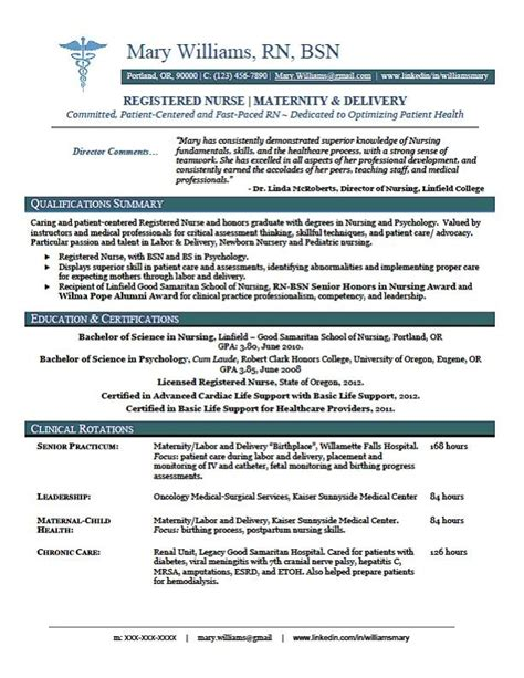 New Grad Resume Skills 13 New Graduate Nursing Resume Sle Resumes Nursing Things Rn Resume And
