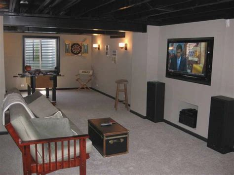 Awesome Unfinished Basement Ceiling Ideas : Good