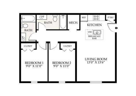 2 bed 2 bath floor plans 2 bed 2 bath floor plans modern style house plan 3 beds