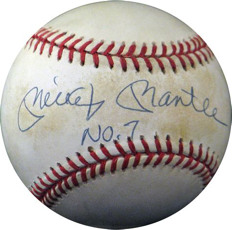 Premium Mickey Baseball lot detail mickey mantle quot no 7 quot autographed oal brown