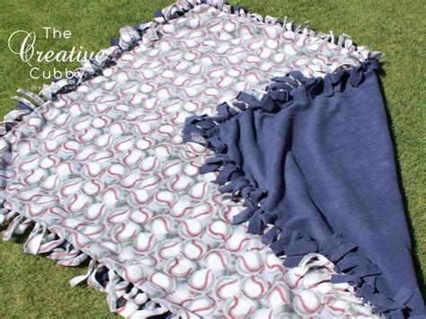 Fleece Blankets No Sew by The Creative Cubby No Sew Fleece Blanket Tutorial