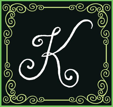 Letter Kc Quot K Quot On Letter K And Fancy Letters