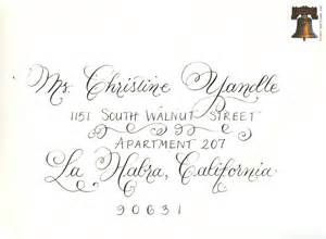 Calligraphy For Envelope Addressing » Home Design 2017